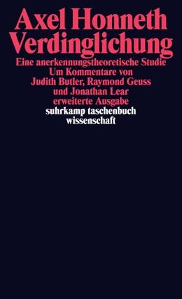 Abbildung von Honneth | Verdinglichung | Erweiterte Ausgabe | 2015 | Eine anerkennungstheoretische ... | 2127