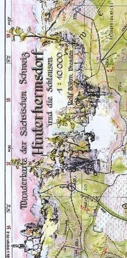 Abbildung von Böhm | Hinterhermsdorf und die Schleusen 1 : 10 000 | Neuauflage | 2013 | Obere und Niedere Schleuse-Wac...