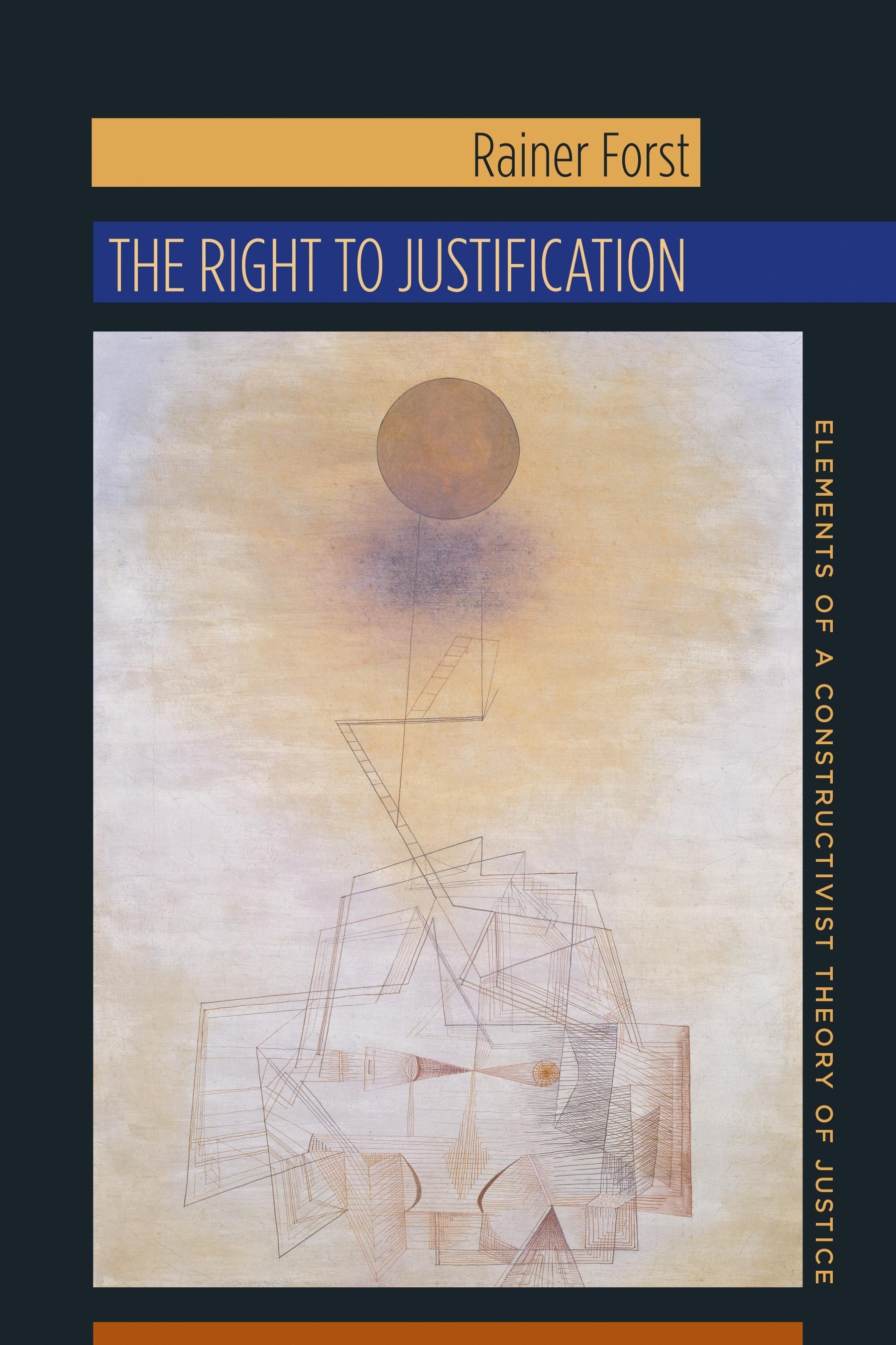 Abbildung von Forst | The Right to Justification | 2014
