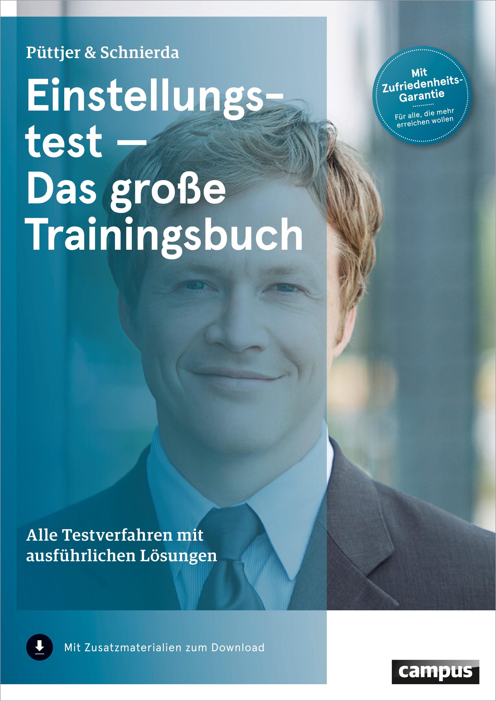 Einstellungstest - Das große Trainingsbuch | Püttjer / Schnierda | 4. aktualisierte Auflage, 2014 | Buch (Cover)
