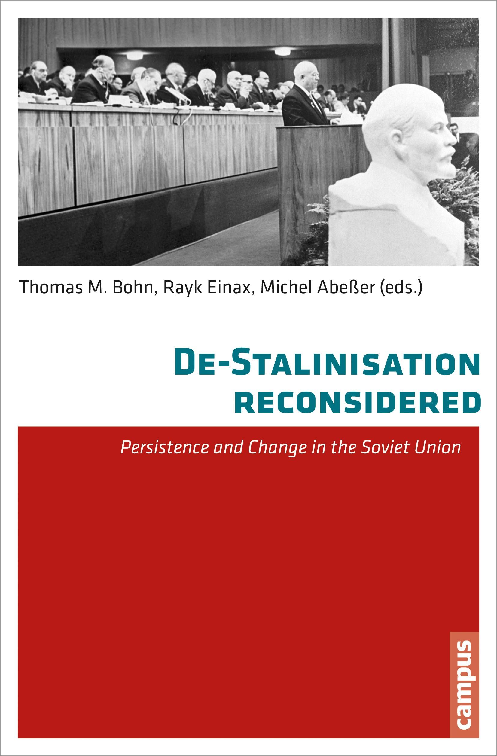 De-Stalinisation reconsidered | Abeßer / Aksyutin / Bittner, 2014 (Cover)