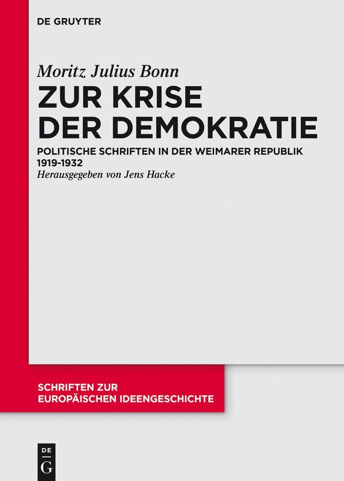 Zur Krise der Demokratie | Bonn / Hacke, 2015 | Buch (Cover)