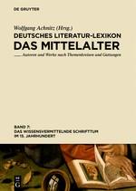 Das wissensvermittelnde Schrifttum im 15. Jahrhundert   Achnitz, 2015   Buch (Cover)