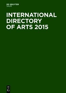 Abbildung von International Directory of Arts 2015 | 39. Auflage | 2014 | beck-shop.de