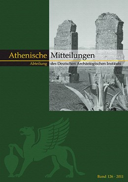 Abbildung von / Sporn / Senff | Mitteilungen des Deutschen Archäologischen Instituts, Athenische Abteilung | 2014 | Band 126 (2011) | 126
