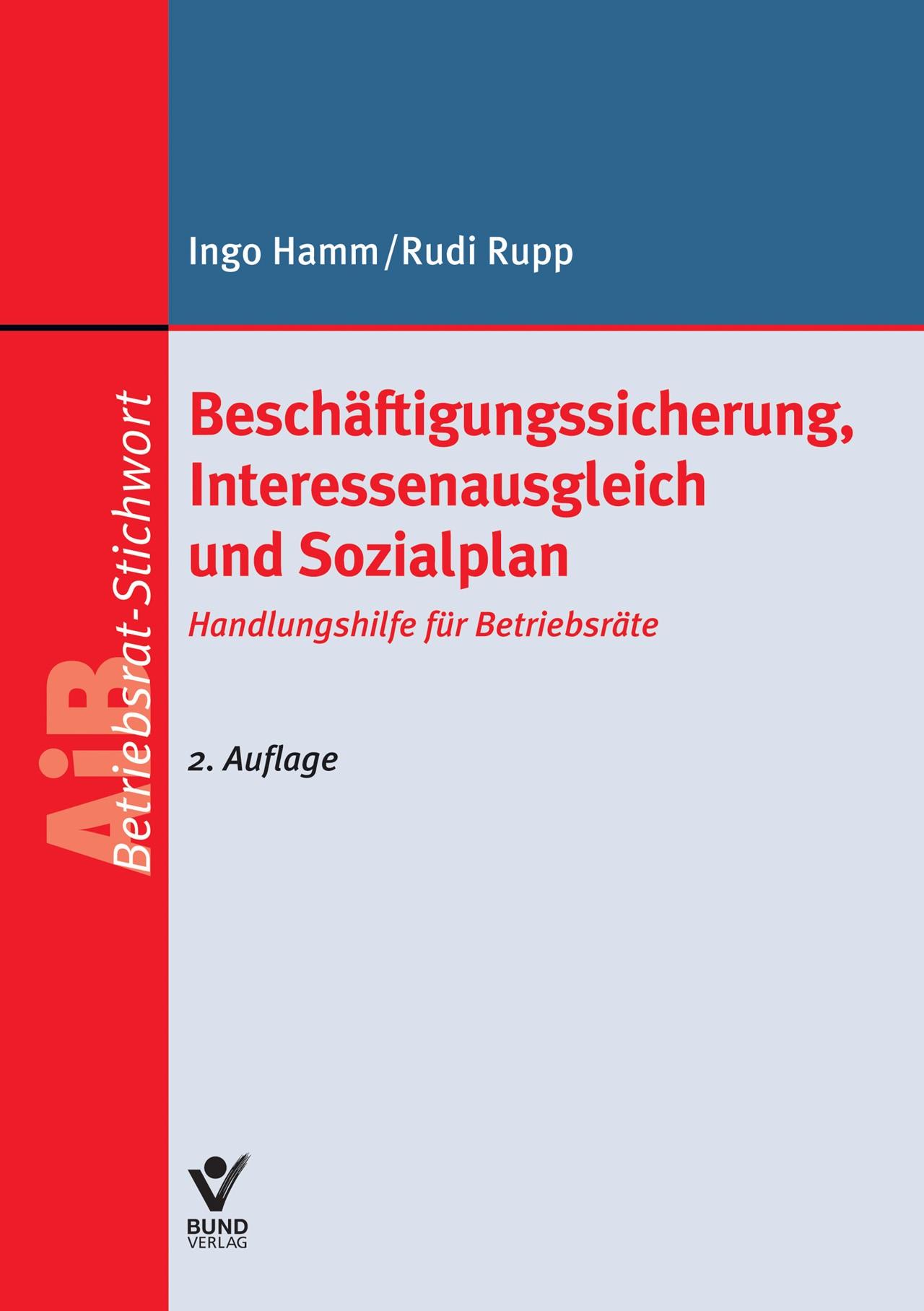 Beschäftigungssicherung, Interessenausgleich und Sozialplan | Hamm | 2. Auflage, 2015 | Buch (Cover)