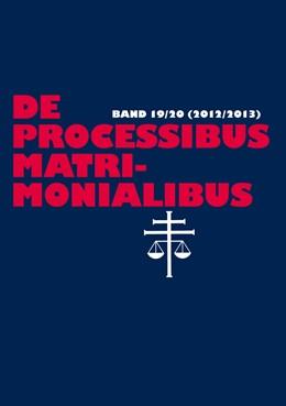 Abbildung von Selge / Güthoff | De processibus matrimonialibus | 1. Auflage | 2016 | 20 | beck-shop.de
