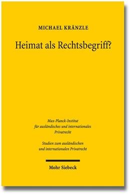 Abbildung von Kränzle | Heimat als Rechtsbegriff? | 2014 | Eine Untersuchung zu Domicile ... | 314