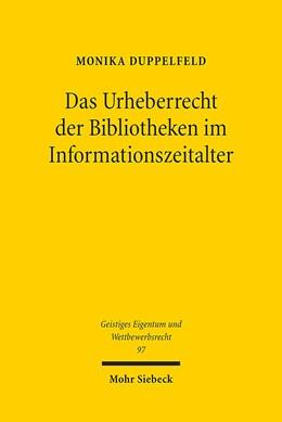Abbildung von Duppelfeld | Das Urheberrecht der Bibliotheken im Informationszeitalter | 1. Auflage | 2014 | 97 | beck-shop.de