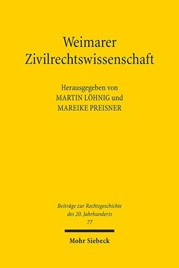 Abbildung von Löhnig / Preisner   Weimarer Zivilrechtswissenschaft   2014   77