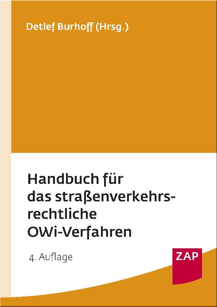 Handbuch für das straßenverkehrsrechtliche OWi-Verfahren | Burhoff | Buch (Cover)