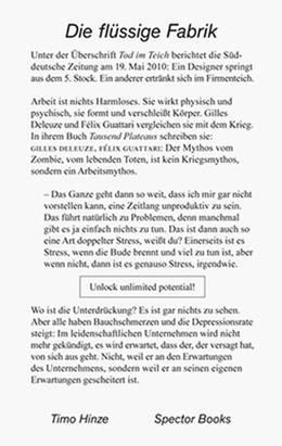 Abbildung von Hinze | Die flüssige Fabrik | 2014