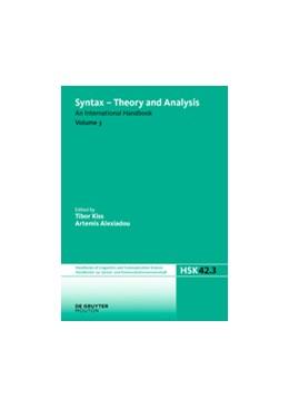 Abbildung von Kiss / Alexiadou | Syntax - Theory and Analysis. Volume 3 | 2015 | 42/3