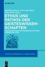 Abbildung von Klausnitzer / Spoerhase / Werle | Ethos und Pathos der Geisteswissenschaften | 2015