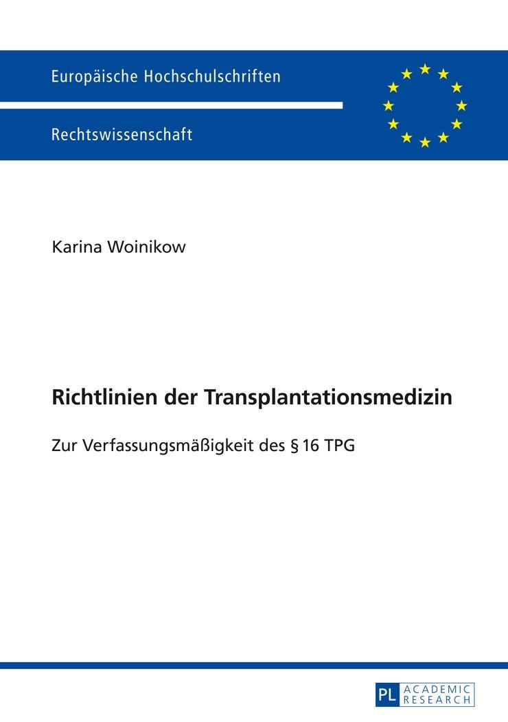 Abbildung von Woinikow | Richtlinien der Transplantationsmedizin | 2014