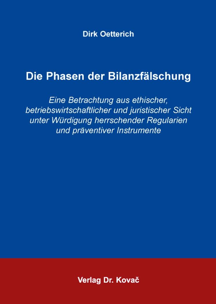 Die Phasen der Bilanzfälschung | Oetterich, 2014 | Buch (Cover)