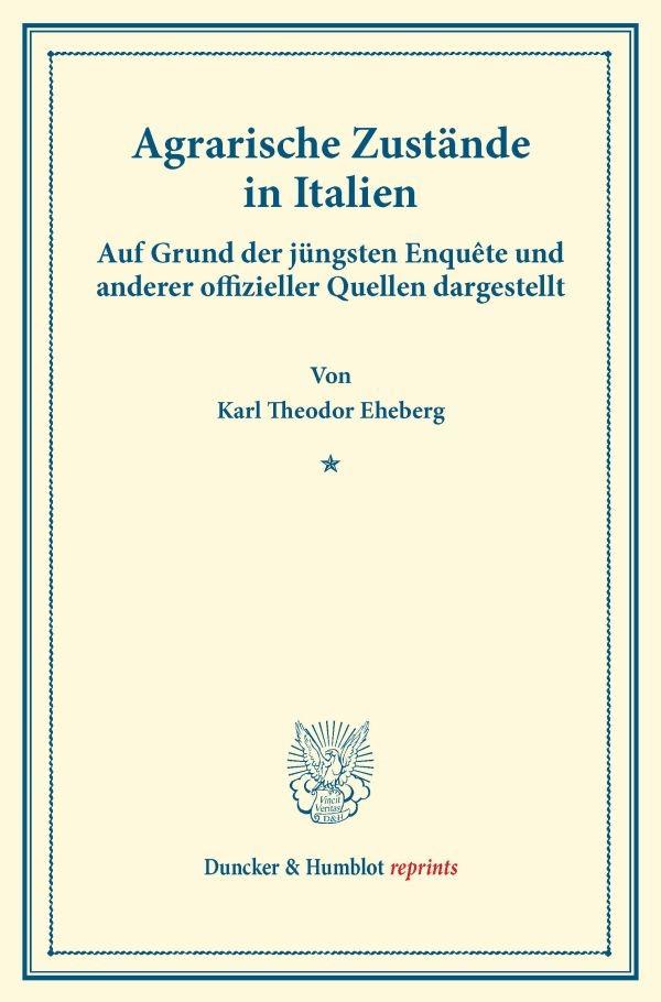Abbildung von Eheberg | Agrarische Zustände in Italien | 2014