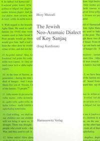 Abbildung von Mutzafi | The Jewish Neo-Aramaic Dialect of Koy Sanjaq (Iraqi Kurdistan) | 2004