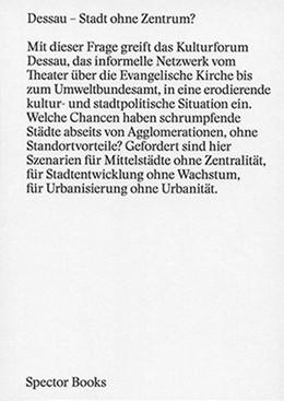 Abbildung von Kulturforum Dessau   Dessau - Dessau Stadt ohne Zentrum?   1. Auflage   2015   beck-shop.de