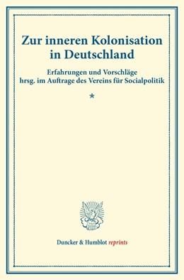 Abbildung von Zur inneren Kolonisation in Deutschland | 1. Auflage | 2014 | beck-shop.de