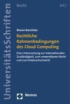 Abbildung von Barnitzke | Rechtliche Rahmenbedingungen des Cloud Computing | 2014