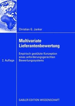 Abbildung von Janker | Multivariate Lieferantenbewertung | 2. Aufl. 2008 | 2009 | Empirisch gestütze Konzeption ...