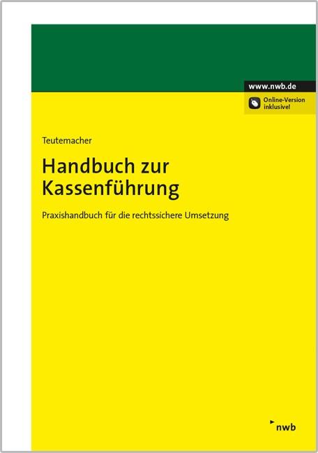 Handbuch zur Kassenführung | Teutemacher, 2015 (Cover)