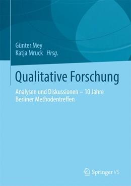 Abbildung von Mey / Mruck   Qualitative Forschung   2014   Analysen und Diskussionen – 10...