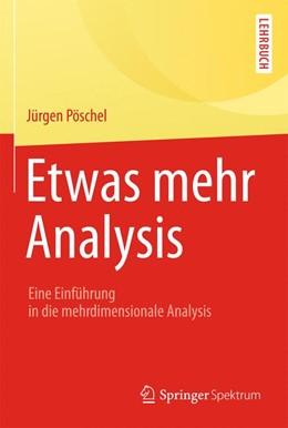Abbildung von Pöschel   Etwas mehr Analysis   2014