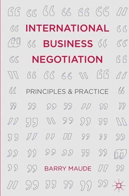 Abbildung von Maude | International Business Negotiation | 2014 | Principles and Practice