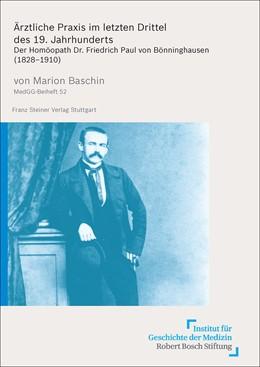 Abbildung von Baschin | Ärztliche Praxis im letzten Drittel des 19. Jahrhunderts | 2014