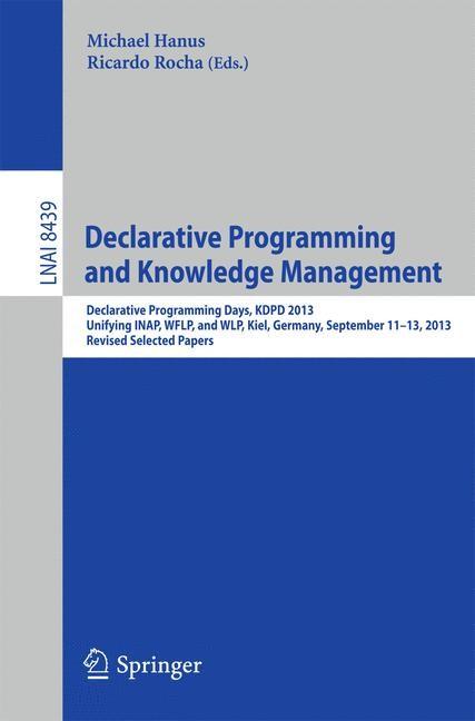 Abbildung von Hanus / Rocha | Declarative Programming and Knowledge Management | 2014
