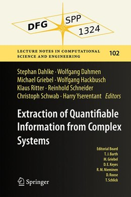 Abbildung von Dahlke / Dahmen | Extraction of Quantifiable Information from Complex Systems | 1. Auflage | 2014 | 102 | beck-shop.de