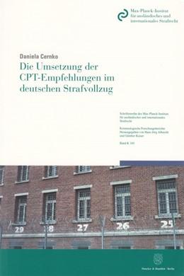 Abbildung von Cernko | Die Umsetzung der CPT-Empfehlungen im deutschen Strafvollzug | 2014 | Eine Untersuchung über den Ein... | 165