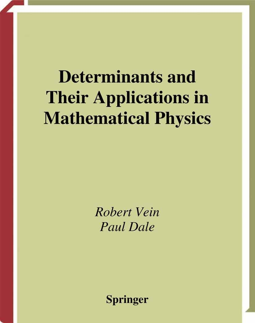 Abbildung von Vein / Dale | Determinants and Their Applications in Mathematical Physics | 1998