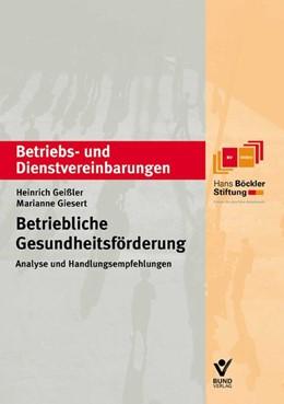 Abbildung von Giesert / Geißler | Betriebliche Gesundheitsförderung | 1., Aufl | 2003