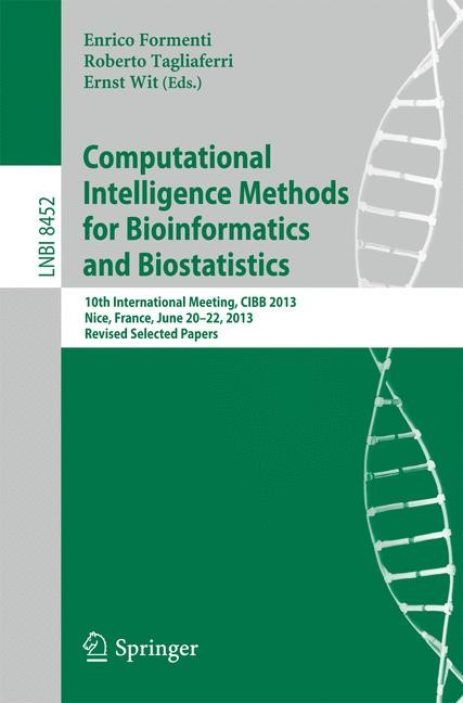 Abbildung von Formenti / Tagliaferri / Wit | Computational Intelligence Methods for Bioinformatics and Biostatistics | 2014