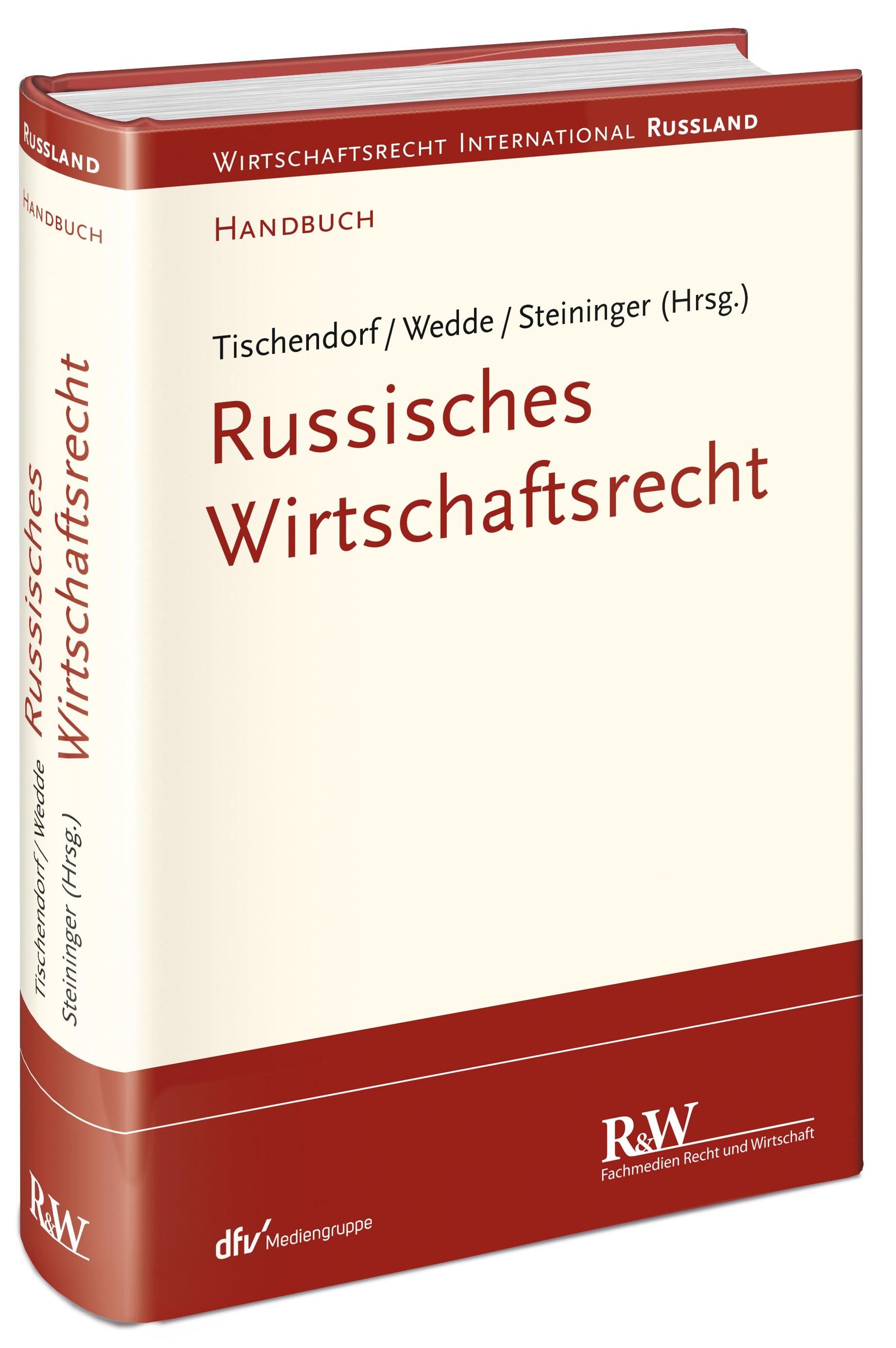 Abbildung von Tischendorf / Wedde / Steininger (Hrsg.) | Russisches Wirtschaftsrecht | 2019