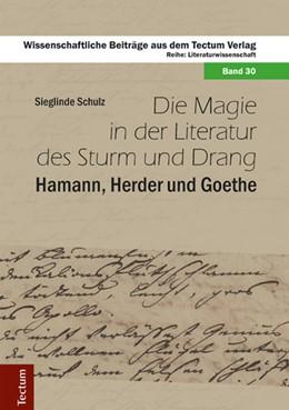 Abbildung von Schulz | Die Magie in der Literatur des Sturm und Drang | 2014