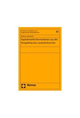 Abbildung von Windorfer   Kapitalmarktinformationen aus der Perspektive des Lauterkeitsrechts   2014   82