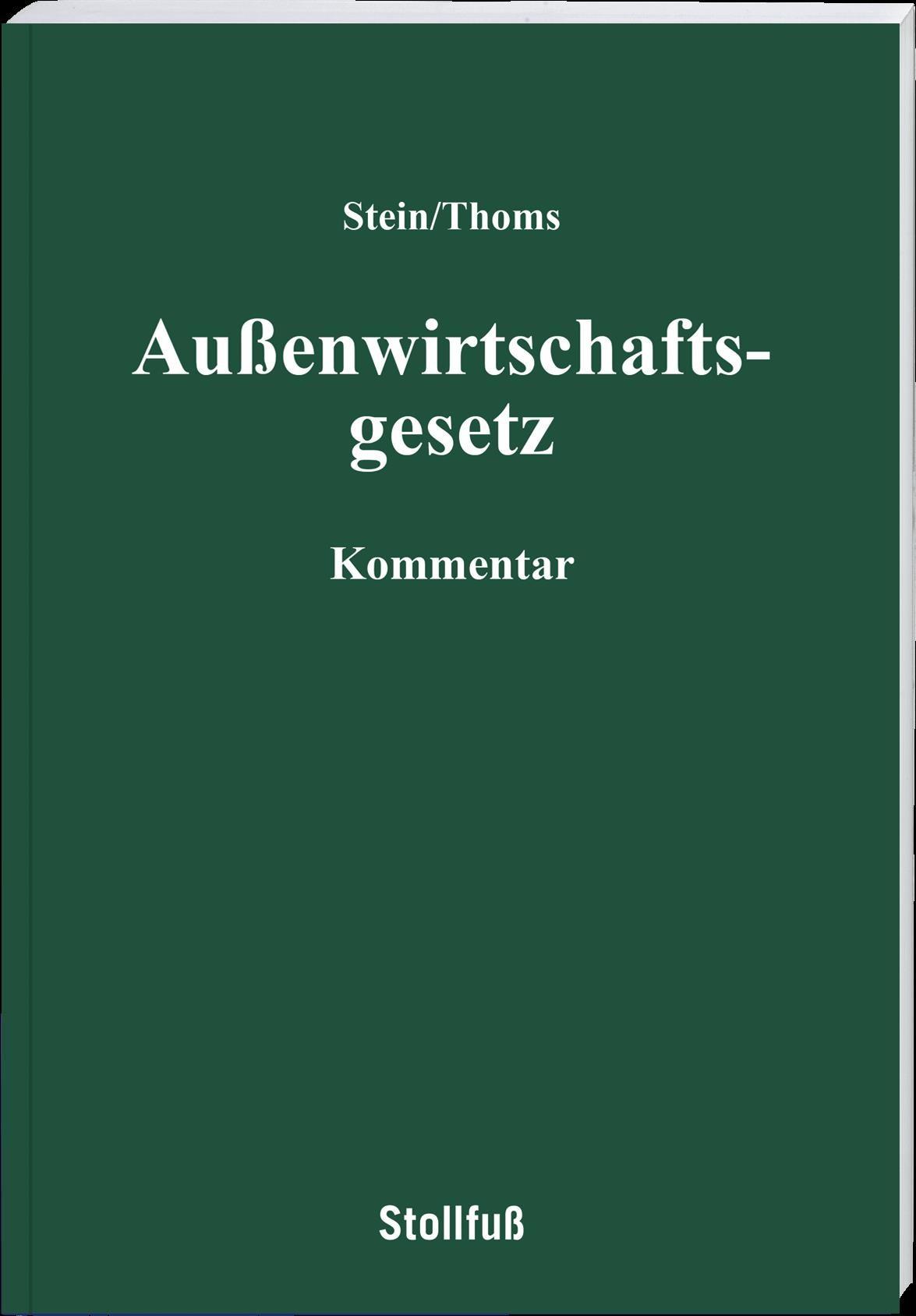 Abbildung von Stein (Hrsg.)   Außenwirtschaftsgesetz   2014
