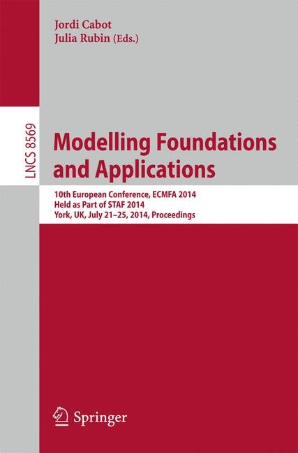 Abbildung von Cabot / Rubin | Modelling Foundations and Applications | 2014