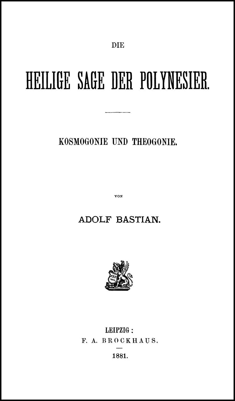 Abbildung von Bolz / Fischer | Adolf Bastian: Ausgewählte Werke in 9 Bänden | Leipzig 1881. Reprint: Hildesheim 2006 | 2006