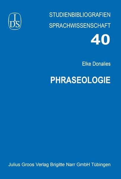 Abbildung von Donalies | Phraseologie | 2012