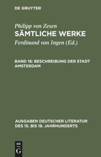 Abbildung von Ingen / Zesen   Zesen, Philipp von: Sämtliche Werke   2000
