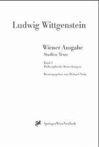Abbildung von Wittgenstein / Nedo | Wiener Ausgabe Studien Texte | 1999