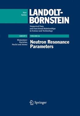 Abbildung von Schopper | Neutron Resonance Parameters | 2009 | 24