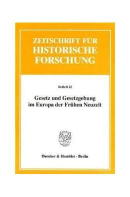 Abbildung von Dölemeyer / Klippel | Gesetz und Gesetzgebung im Europa der Frühen Neuzeit. | 1998 | 22