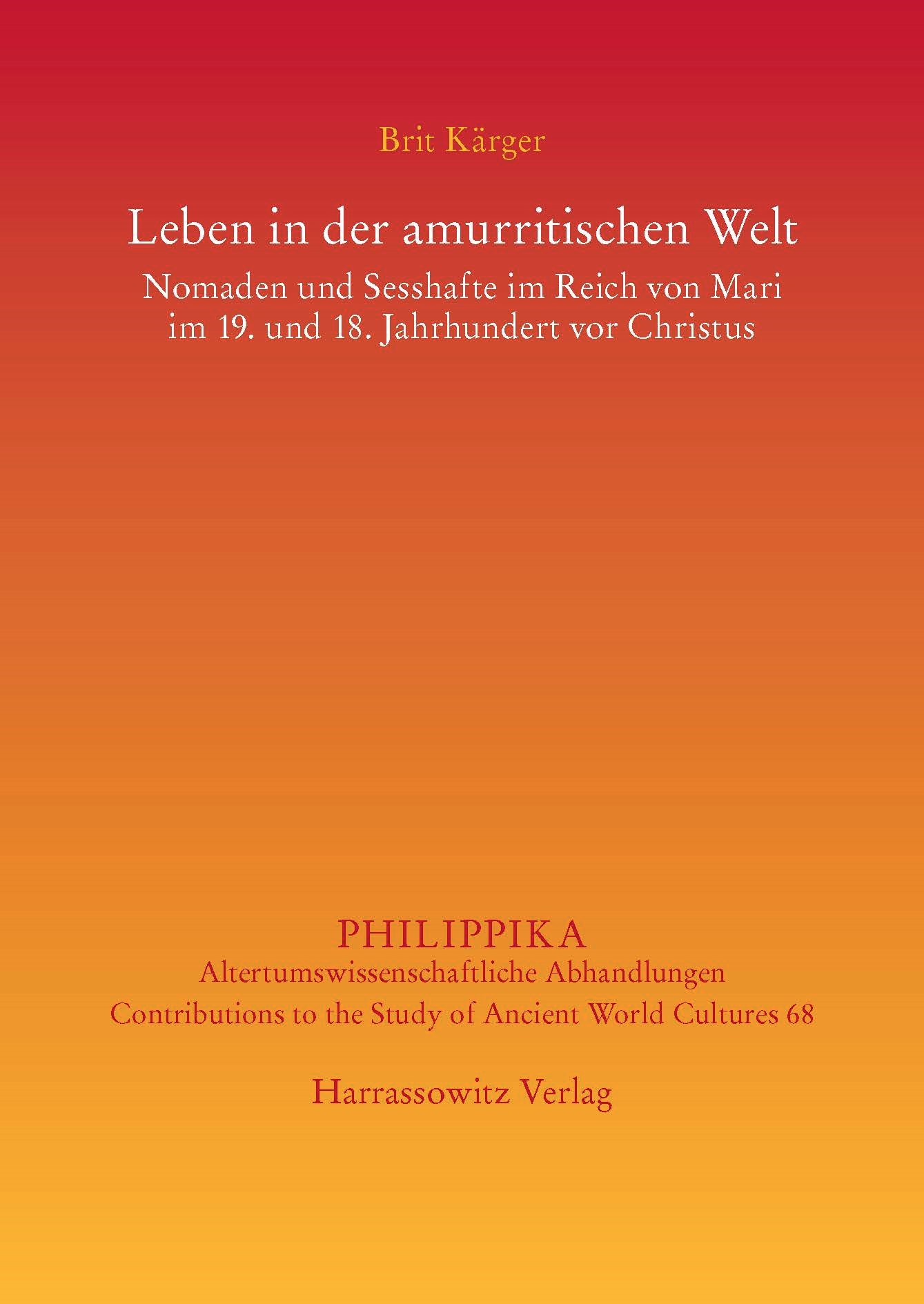 Leben in der amurritischen Welt   Kärger, 2014   Buch (Cover)