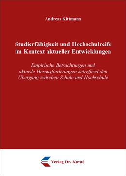 Abbildung von Kittmann | Studierfähigkeit und Hochschulreife im Kontext aktueller Entwicklungen | 2014 | Empirische Betrachtungen und a... | 24